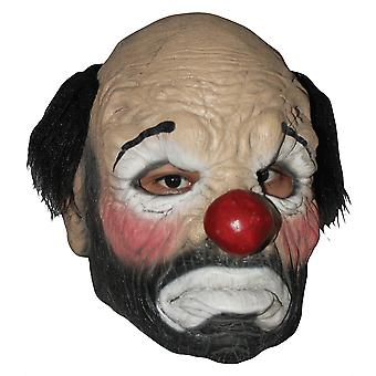 Hobo Clown Sad Circus Horror Mens Costume Overhead Latex Mask with Wig
