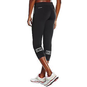 Reebok Womens Dance Gym Running 3/4 Capri Tight Pants Bottoms Leggings - Black
