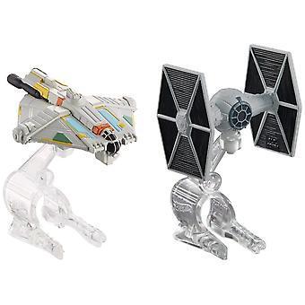 Hot Wheels Star Wars rymdskepp - TIE Fighter vs Ghost (2 Pack)