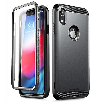 iPhone XR Case, [UB Neo Series] with Built-in Screen Protector Full-Body Protective 2018 Release Retail Package (Black)