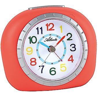 Atlanta 1966/1 alarm clock for children children alarm clock coral pink quietly without ticking