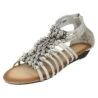 Ladies Spot On Sandals F1880