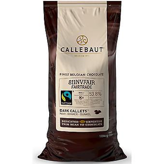 Callebaut Fairtrade dunkle Schokolade Bitter Sweet 54 % callets