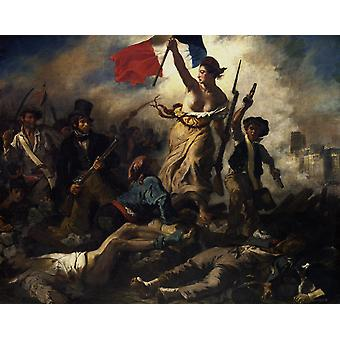 Liberty Leading the People, Eugene Delacroix, 50x40cm