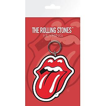 Rolling Stones Zunge Logo PVC flexibel Schlüsselring (ge)