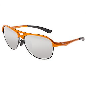 Breed Jupiter Aluminium Polarized Sunglasses - Orange/Silver