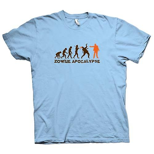 Mens T-shirt - Zombie Apocalypse - Funny