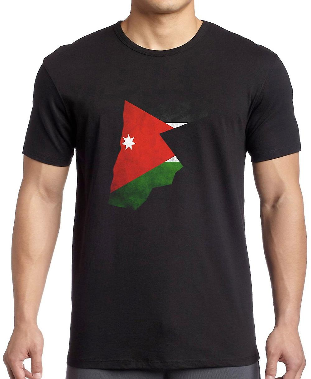 Jordan Jordanian Flag Map T Shirt