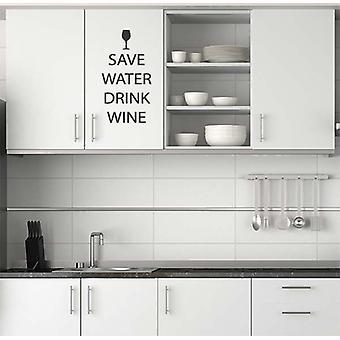 Save Water Drink Wine Wall Sticker