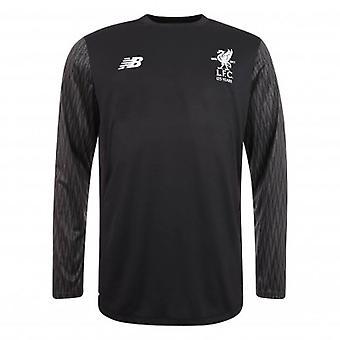 2017-2018 Liverpool Away Long Sleeve Goalkeeper Shirt (Black) - no sponsor