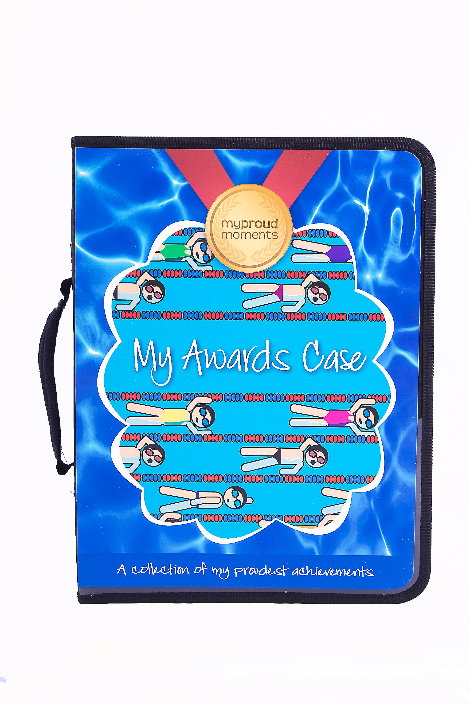 My Proud Moments Medal, Badge & Certificate Case for Swimmers
