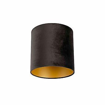 QAZQA cortina 25-25-25 de terciopelo negro con oro
