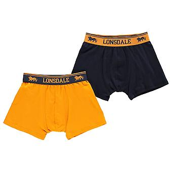 Lonsdale Kids 2 Pack Trunk Junior Boys