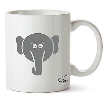 Hippowarehouse милый слон напечатаны Кубка керамическая кружка 10oz