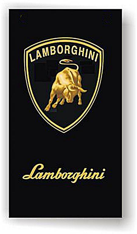 Large Lamborghini flag (portrait/vertical)  1500mm x 900mm   (ob of)