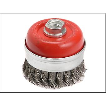 WIRE CUP BRUSH TWIST KNOT 65MM X M14 X 2 0.50MM