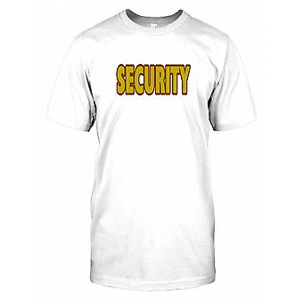 Security in Red and Yellow Text Kids T Shirt