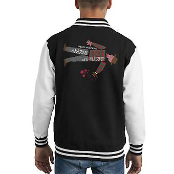 Nightmare On Elm Street Anatomy Of A Murder Poster Mashup Kid's Varsity Jacket