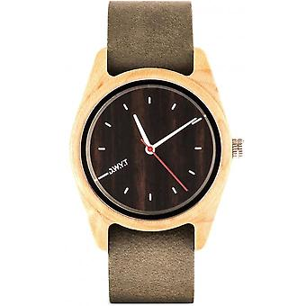D.W.Y.T DW-00103-5010 - watch your ga wood leather gray man