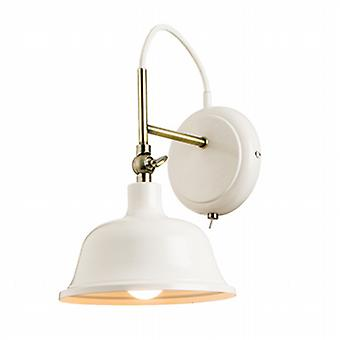 Endon 60842 Laughton Wall Light in Country Cream Finish