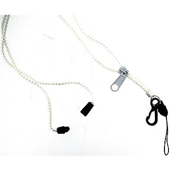OOTB White Zipper Lanyard Phone Necklace 35