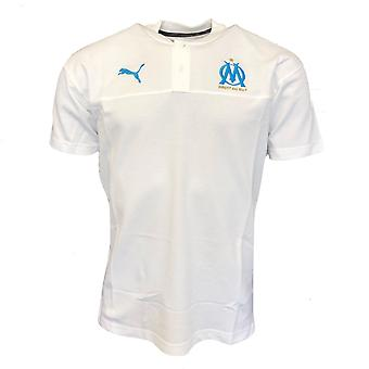 2019-2020 Olympique Marseille Puma Casuals Polo shirt (wit)