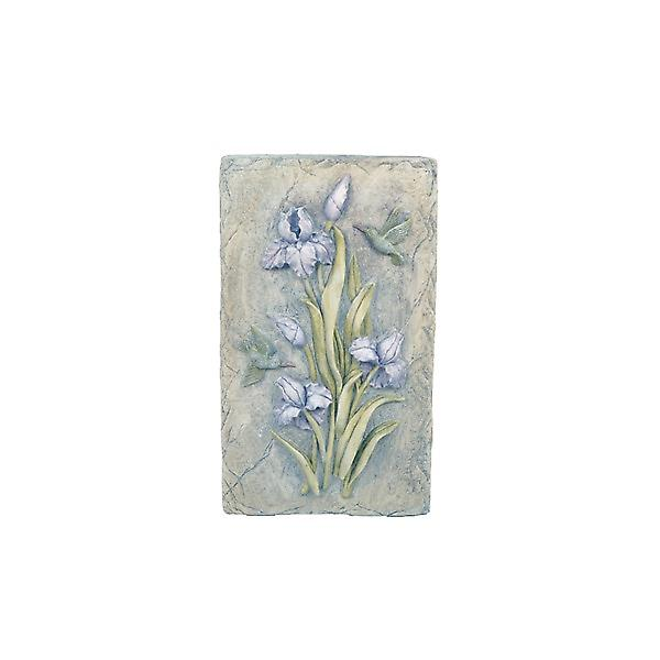 Solstice Sculptures Resin Lilac Bud Flower Plaque