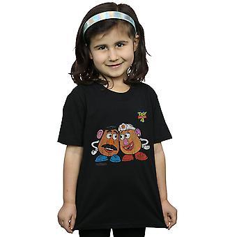 Disney Girls Giocattolo Storia 4 Mr and Mrs Potato Testa T-Shirt