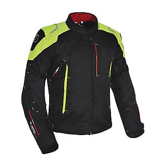 Oxford Black-Fluorescent Toledo 1.0 Short Waterproof Motorcycle Jacket