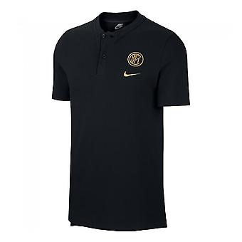 2019-2020 Inter Milan Authentic Polo Shirt (Black)