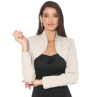 KRISP  Women Ladies Party Shrug Long Sleeve Crop Bolero Top Blazer Coat Jacket Wrap