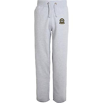 4th Queen's Own Hussars Veteran - Licensed British Army Embroidered Open Hem Sweatpants / Jogging Bottoms