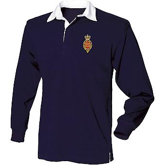Royal Horse Guards Cypher - Licenza British Army Ricamato Long Sleeve Rugby Camicia