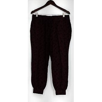 Anybody Petite Lounge Pants, Sleep Shorts MP Loungewear Cozy Knit Wine Red