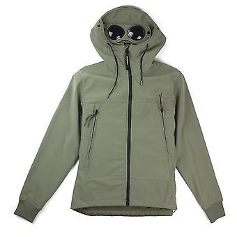 CP компании Мягкий Оболочка с капюшоном очки Куртка Хаки