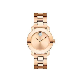 Movado Bold Rose Gold-Tone Ladies Watch 3600550