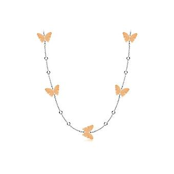 Tuscany Silver - Chain necklace with Sterling Silver Pendant 925 - 56 cm
