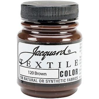 Jacquard Textile Color Fabric Paint 2.25oz-Brown TEXTILE-1120
