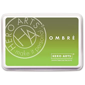 Hero Arts Ombre Ink Pad-Lime To Forever Green OMBRE-AF320