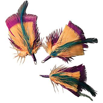 Natural Feather Picks 3 Pkg 3