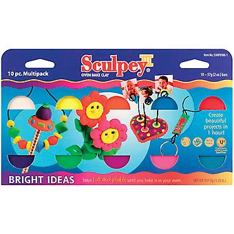 Sculpey Iii Polymer Clay Multi Pack 2 Ounces 10 Pkg Bright Ideas S3mp 05001