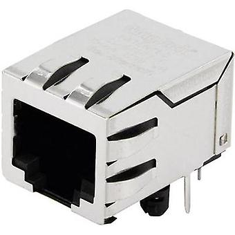 BEL Stewart Connectors SI-60123-F, Pin RJ45 Socket, horizontal mount Nickel-coated, Metal