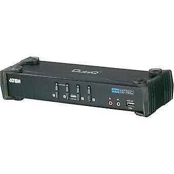 4 ports KVM changeover switch DVI USB 1920 x 1200 pix