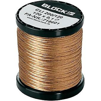 Enamel-coated copper wire Outside diameter (incl. coating)=0.10 mm 1 pack Block