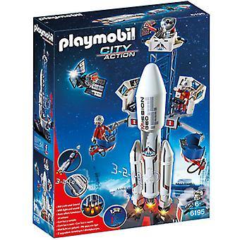 Playmobil 6195 Base Station With Rocket
