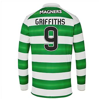 2016-17 Celtic Long Sleeve Home skjorta (Griffiths 9) - barn