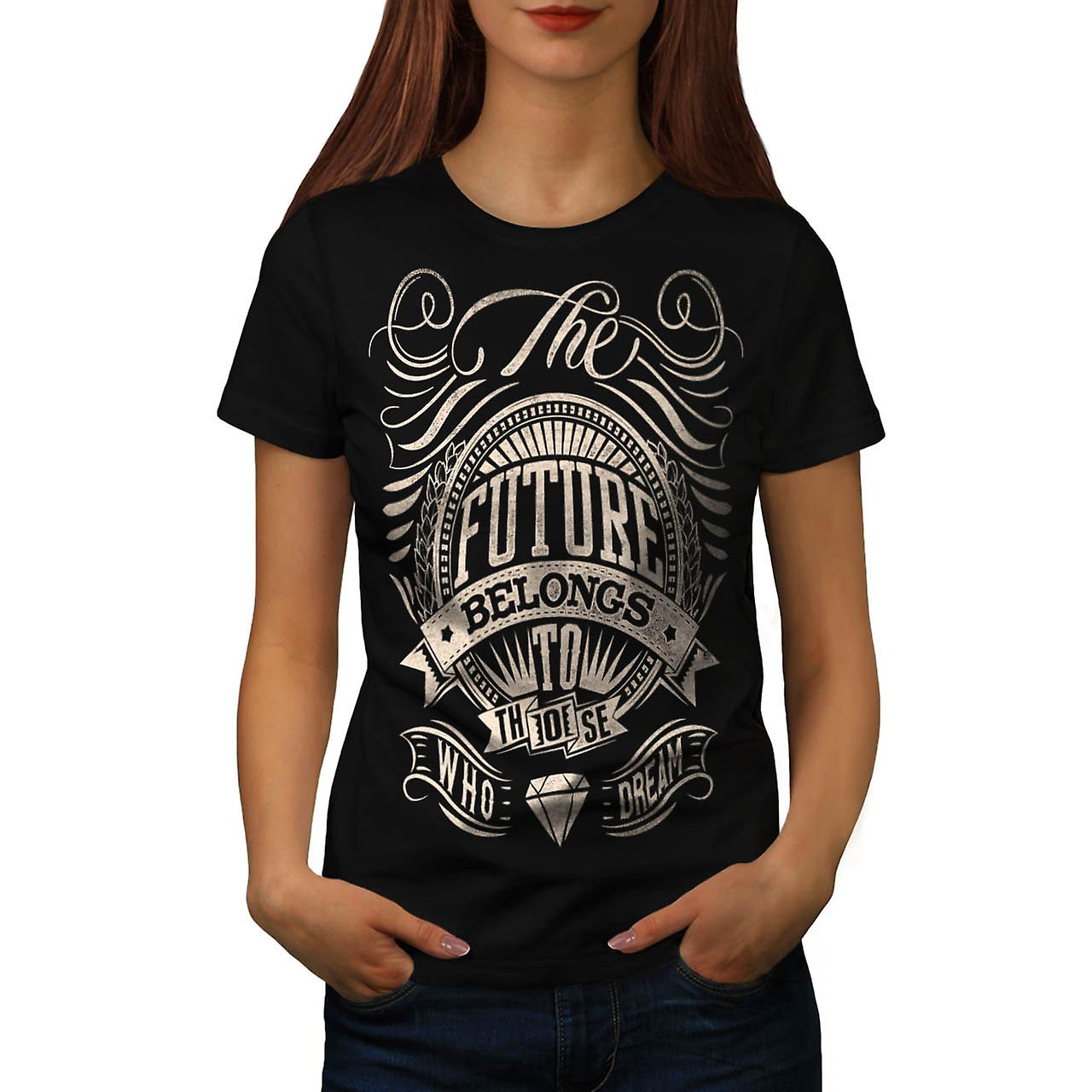 Future For Dream USA About Life Women Black T-shirt | Wellcoda