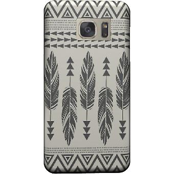 Tribal cover-feathers-black for Galaxy S6 Edge
