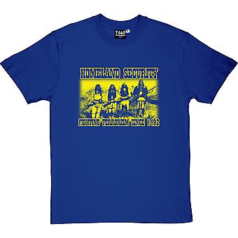 Homeland Security: Kampen mot Terrorism sedan 1492 mäns T-Shirt