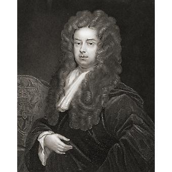 John Somers Baron Somers de Evesham C 1651-1716 StatesmanChief anglais ministre d'EnglandS Guillaume Iii de 1696-1700 de la Galerie du livre de Portraits publiés PosterPrint Londres, 1833